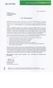 Referencje dla ProOptima od ASTOR